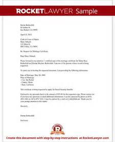 marriage certificate request letter template with sle
