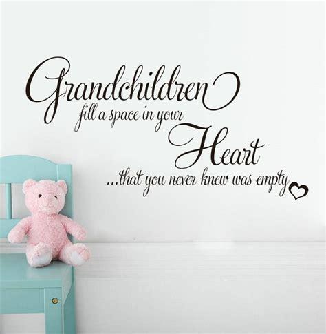 grandchildren fill empty heart english quotes wall sticker  bedroom living room