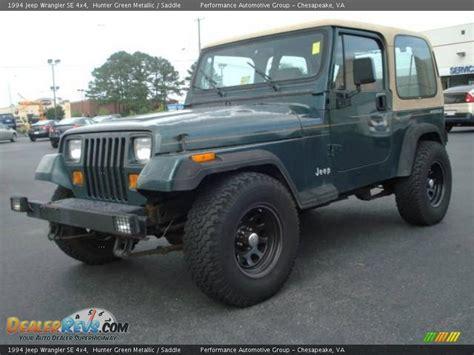 1994 Jeep Wrangler Se 1994 Jeep Wrangler Se 4x4 Green Metallic Saddle