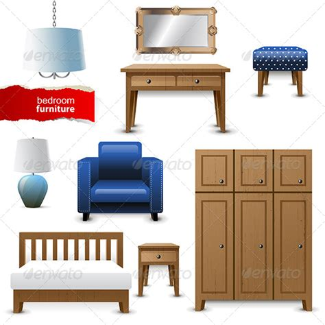 Bedroom Objects Bedroom Furniture Graphicriver