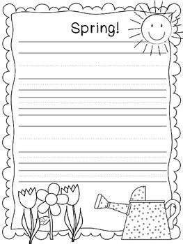 printable writing paper spring fun spring writing paper classroom spring pinterest
