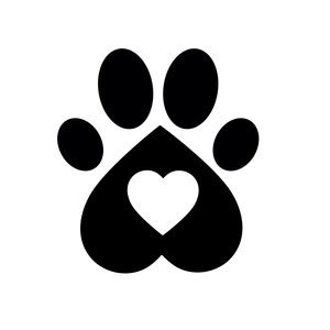 Silhouette Design Store View Design 213418 Heart Paw Print Paw Print Silhouette