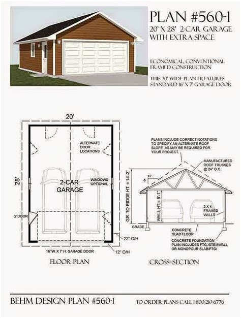 20 x 24 garage plans garage plans blog behm design garage plan exles