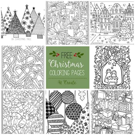 coloring pages free christmas adult coloring pages u