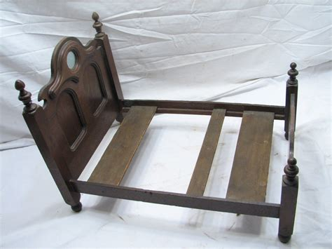 Ebay Wooden Bed Frames Antique Salesman Sle Walnut Wooden Doll Bed Frame W