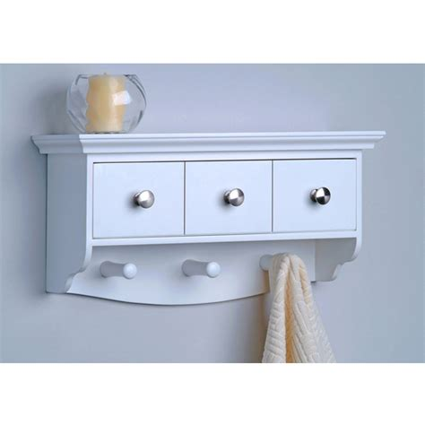 With Drawer Hanging Wall Shelf With Cubbies Decorative Decorative Bathroom Wall Shelves
