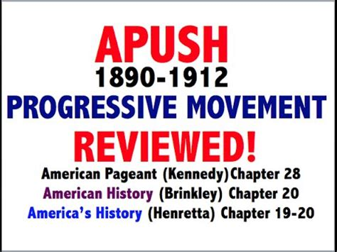 Progressive Era Ap Us History Essay by American Pageant Chapter 28 Apush Review