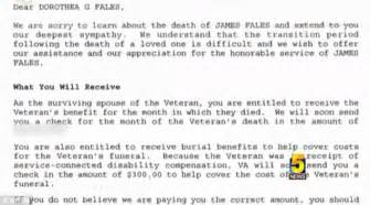 va sends letter to army wife mistakenly declaring her
