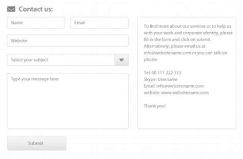 Contact Form Templates Contact Form 7 Templates