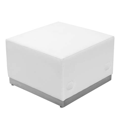 White Leather Ottoman Ace Ottoman White Leather Egpres