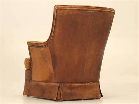 armchair pockets french leather armchair with magazine pocket for sale at