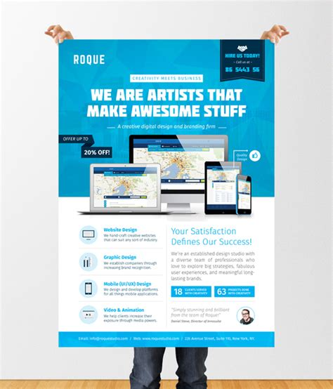design poster app design services flyer poster template web app graphic on