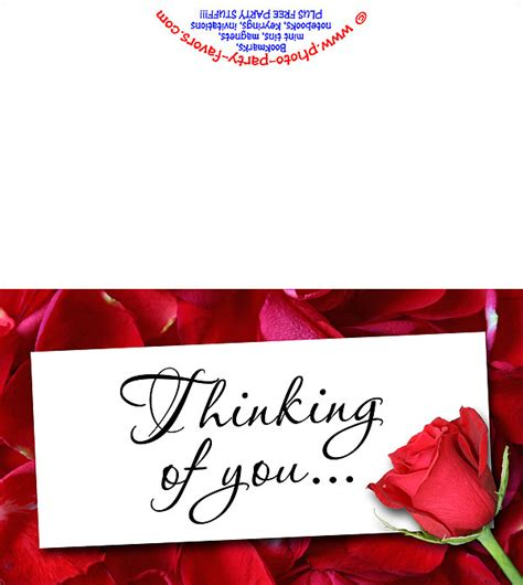 printable card thinking of you rose thinking of you card free printable cards