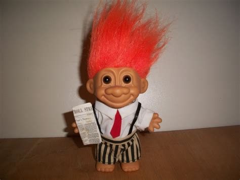 troll for sale troll russ berrie collectible 4 quot wall stockbroker