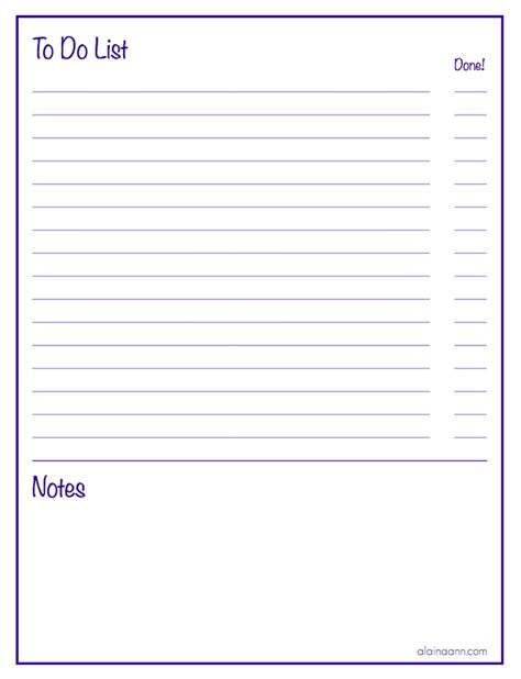 printable lined to do list lined to do list with notes organized life free