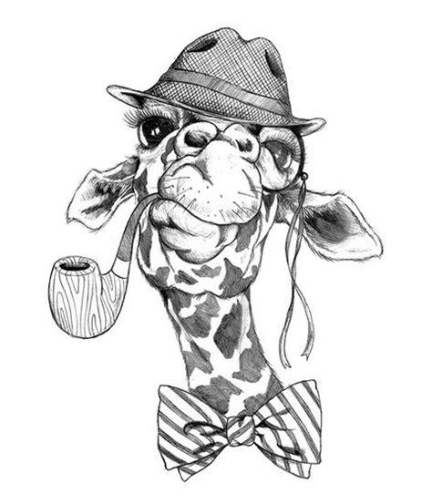 hipster girafe noir tattoo tattooforaweek tatouages