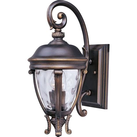 Patio Wall Lighting Maxim Lighting Carriage House Dc 3 Light Bronze Outdoor Wall Mount 3424wgob The Home