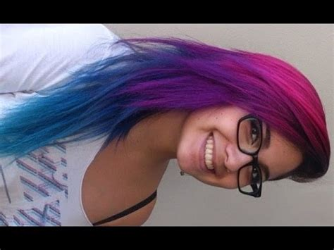 how i did my pink purple blue and turquoise hair