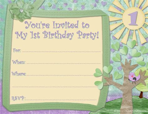 printable invitations birthday printable birthday party invitations for kids new party