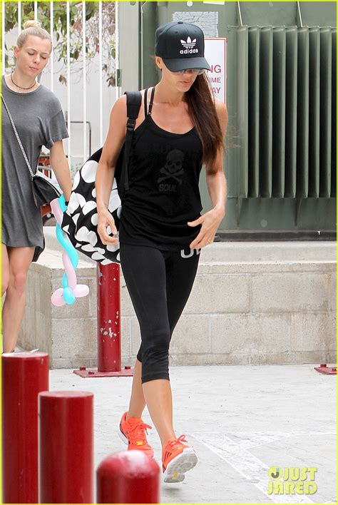 Never One To Miss A Trend Beckham In Pvc by David Beckham Are All About Soulcycle Class