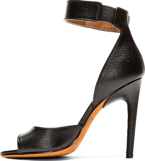 New Givenchy High Heel 3 In 1 1698 3 givenchy curve heel curb chain patent leather sandals in black lyst