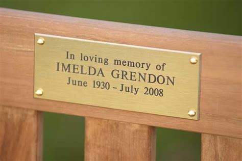 brass plaques for benches memorial benches with an engraved brass plaque