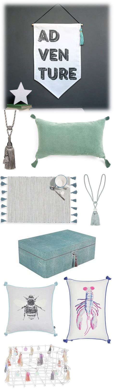 home accessory trends 2017 embellished tassel home accessory trend homegirl london