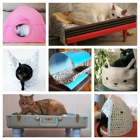 Handmade Cat Beds - diy cat beds you can make for your meowaf