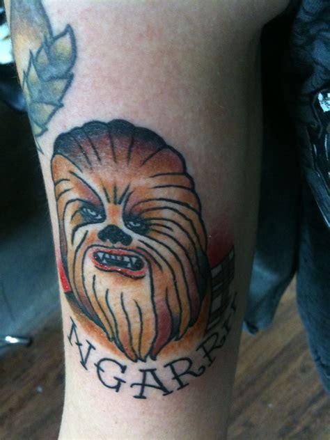 allegiance tattoo chewbacca by kyle holt at allegiance ink
