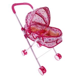 Dolls Iron Pink Stroller Pushchair Pram dolls pram edge
