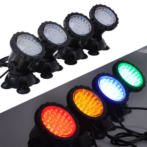 led fish tank lights for sale 1 set with 4 lights 36 led 6w underwater submersible
