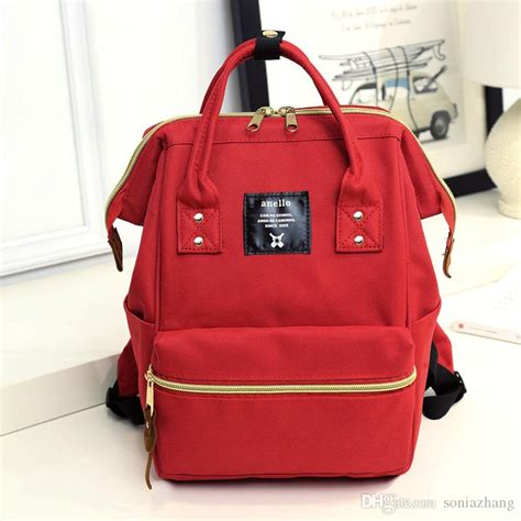 Anello Bag 15 anello japan lotte mini backpack travel bag bag of and students leisure solid flow