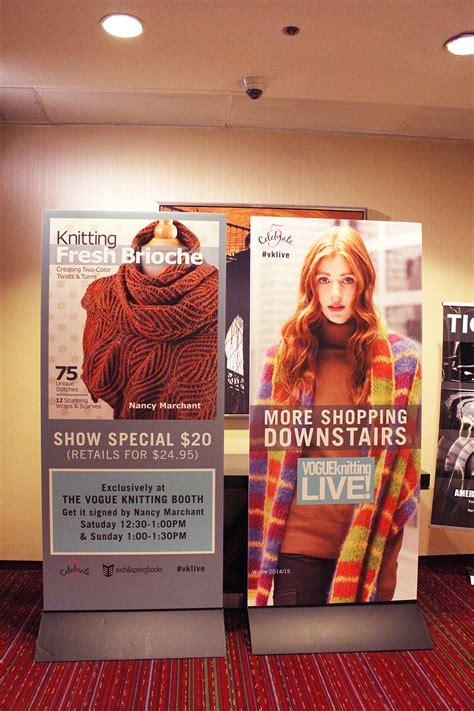 knitting new york city vogue knitting live new york city 2015 fiber