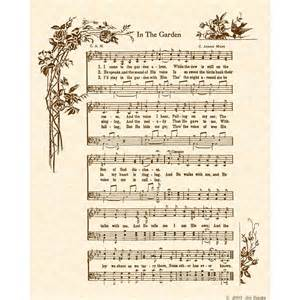 That Old Rugged Cross Lyrics In The Garden 8 X 10 Antique Hymn Art Print On By