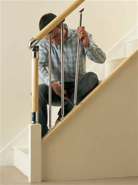 fitting banister spindles fitting fusion handrail stairparts chrome and brushed nickle