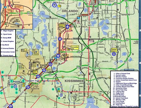 printable orlando area map map of kissimmee world map 07