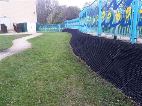 Grass Protection Mats by Grass Protection Mats Covering A Soil Bank With Metal