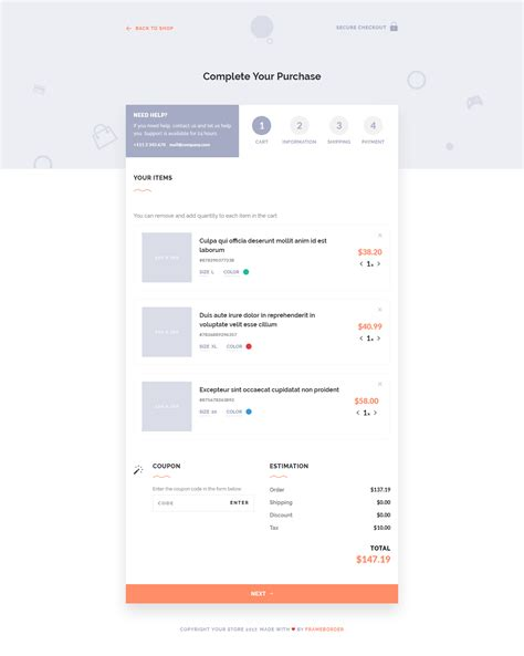 let s checkout jquery html5 checkout page template by