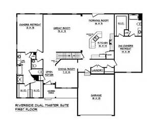 dual master bedroom floor plans riverside a dual master suite house plan schumacher homes