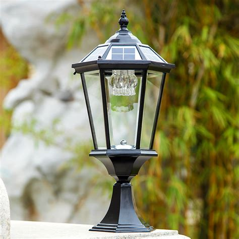 solar powered pillar lights 2w outdoor solar powered rechargeable pillar ls