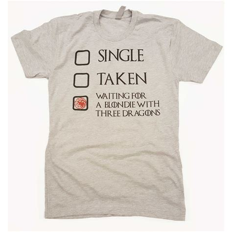 Of Thrones Tshirt single taken waiting for a blondie with 3 dragons t shirt
