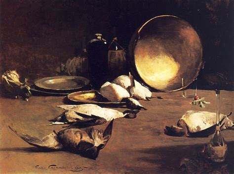 still life with duck home office emil carlsen still life brass bowl ducks and bottles