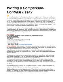 Thesis For Compare Contrast Essay Does A Compare And Contrast Essay Have A Basic Structure