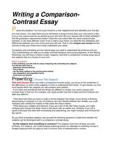 Exle Of Compare Contrast Essay by Does A Compare And Contrast Essay A Basic Structure