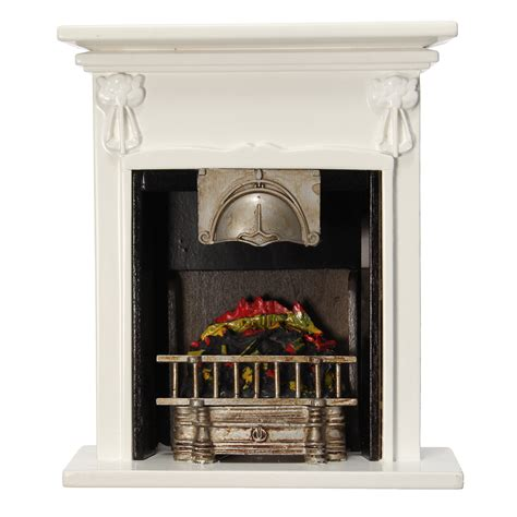 home accessories new black fireplace diy dollhouse miniature furniture