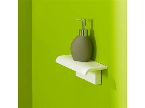 wall mounted shower shelf arsis shower shelf with wall mounted support white