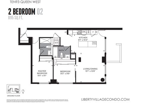 2 bedroom 2 bath condo floor plans ten93 queen west pre construction condo liberty village
