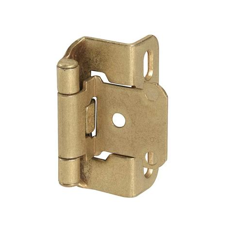 3 8 overlay partial wrap cabinet hinges amerock partial wrap 1 2 quot overlay hinge burnished brass