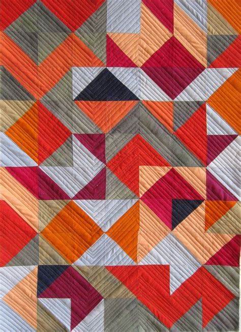 contemporary quilts and coverlets triangle series 12 modern quilt love pinterest