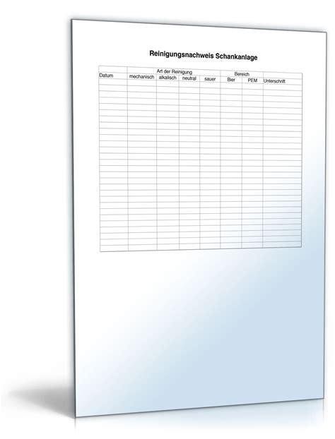 Musterbriefe Geschaeftsbriefe reinigungsnachweis schankanlage vorlage zum